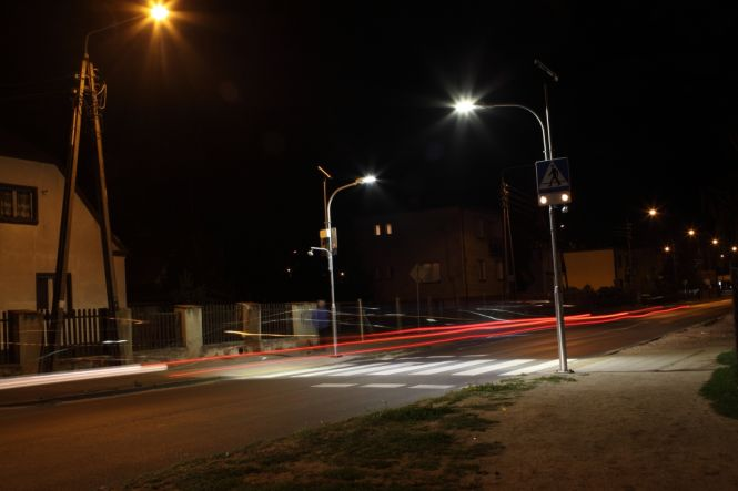Doświetlone przejście dla pieszych
