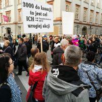 Protest krakowian przeciwko ZIKiT-owi - walczą o miejsca parkingowe w centrum miasta