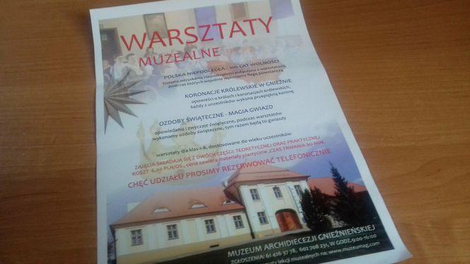 Warsztaty w Muzeum Archidiecezji Gnieźnieńskiej