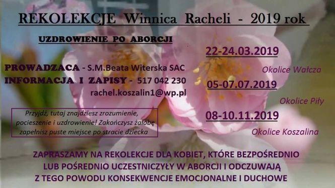 """Rekolekcje """"Winnicy Racheli"""" w diecezji koszalińsko- kołobrzeskiej"""