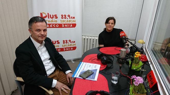 Łucja Kalkstein (Polsko-Skandynawska Izba Gospodarcza), Marek Kubik (Prezes Agencji Rozwoju Metropolii Szczecińskiej)