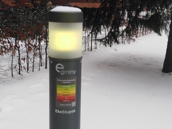 eko-słupek na Politechnice Krakowskiej